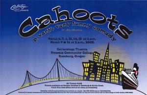 photo of poster of UCC production of Cahoots
