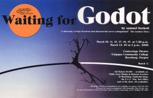 photo of poster of UCC production of Waiting for Godot